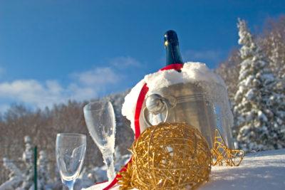 Champagne-piste-pyrenees-erronda-seminaire-ski-agence-evenementielle-erronda