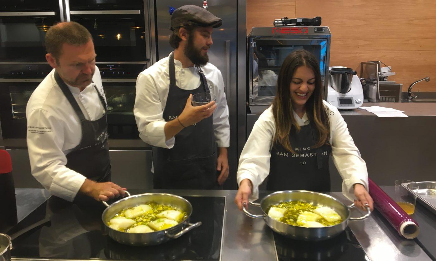 Seminaire incentive direction san sebastian saint sebastien team building cours de cuisine - Cours de cuisine gastronomique ...