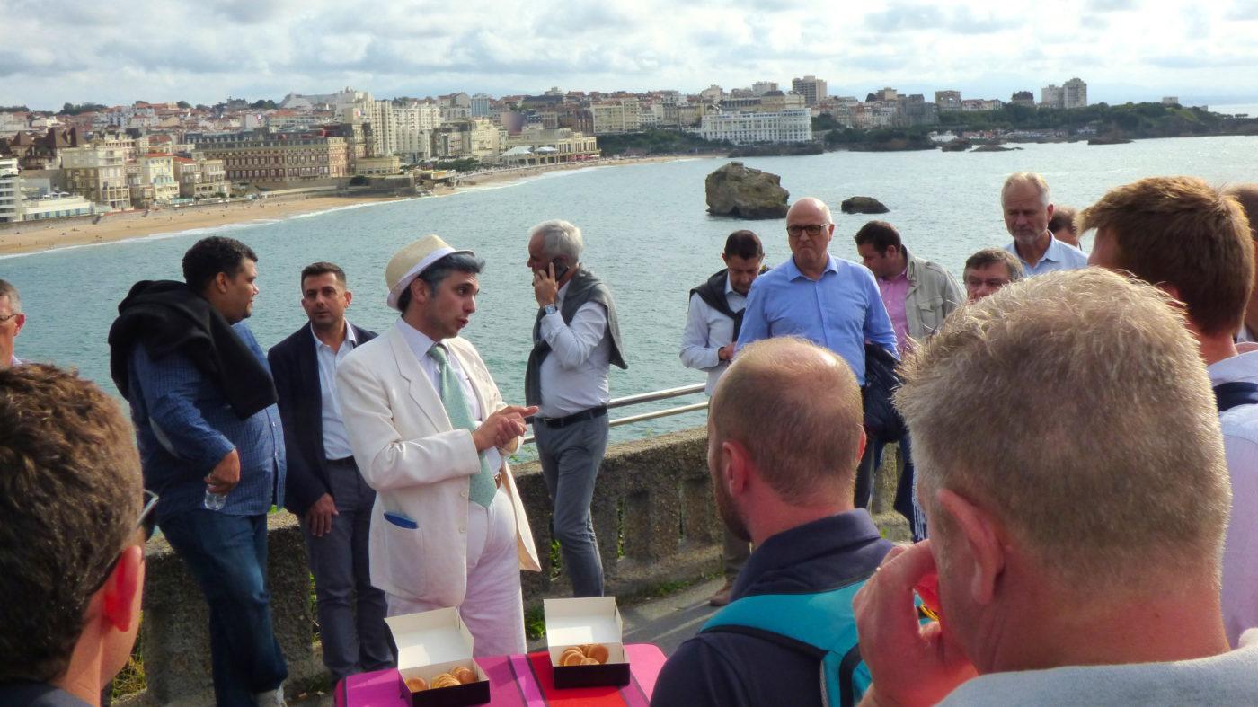 Seminaire visite theatralisee incentive biarritz team building pays basque animation pelote basque agence voyage evenementielle erronda