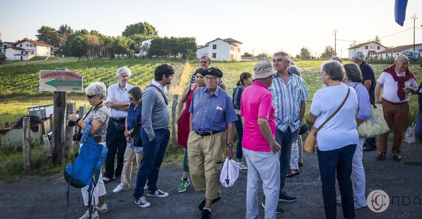 Photographie incentive journee decouverte pays basque voyage visite atelier piment degustation producteur nature agence evenementielle saint jean de luz erronda