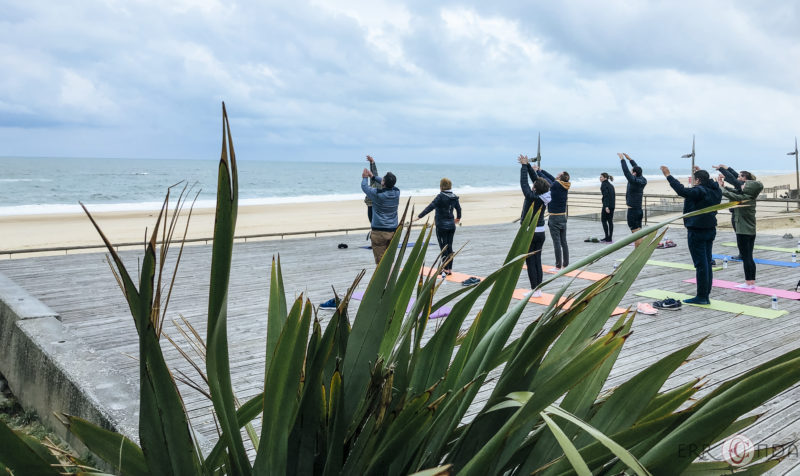 agence de voyage évènementielle pays basque landes Incentive nature foret plage Koh lanta team building yoga course d'orientation vew beach respiration