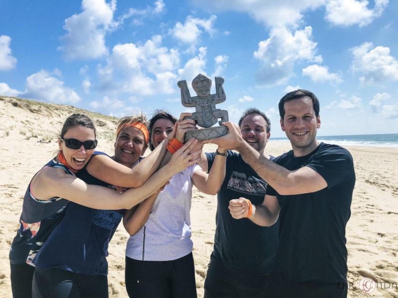 agence evenementielle receptive pays Basque erronda seminaire team building incentive event saint jean de luz landes Koh lanta challenge hossegor seignosse sport aventure plage totem equipe gagnante