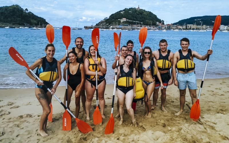 agence evenementielle receptive pays basque erronda seminaire team building incentive event saint jean de luz San Sebastian kayak baie concha