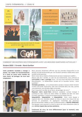 edito événementiel et covid 19 agence erronda 2020